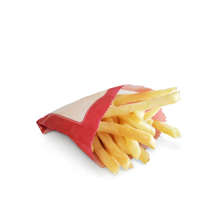 French fries isolate on white background