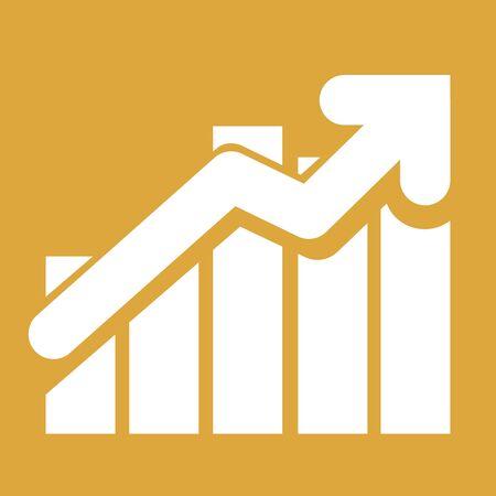 augmentation: Growth sign increase over bar graph