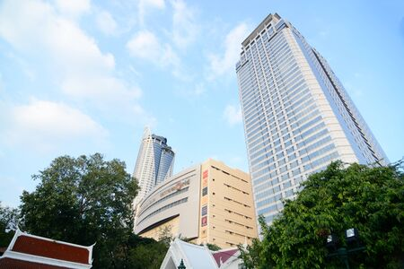 Central World Tower. This is the most of shopping malls in Bangkok Thailand Stock Photo