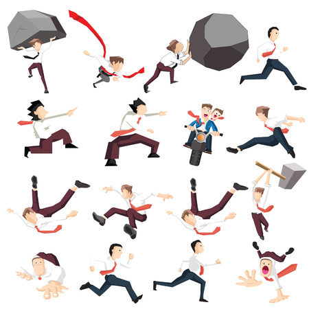 Collection of Businessman (Leadership business concept cartoon illustration)