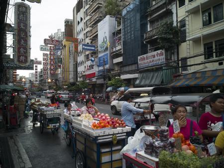CHINATOWN, BANGKOK, THAILAND - JULY29,2018: Traffic on Yaowarat Road, the main street of China town of Thailand.