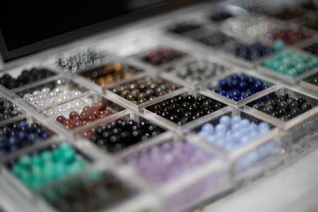 semigem beads bracelet