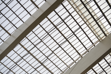 skylight roof structure in construction building Stock Photo