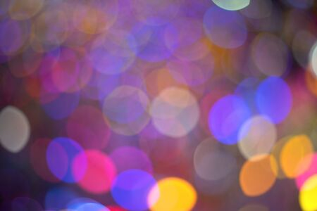 colorful bubble bokeh as christmas background