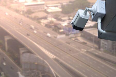 CCTV Camera system operating over highway for observed traffic