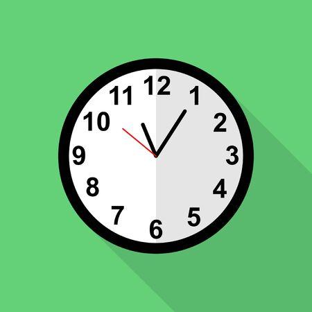 Classic clock icon, Five minutes past eleven o'clock Vecteurs