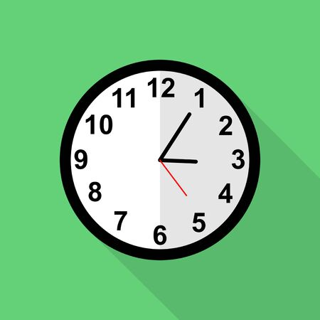 Classic clock icon, Five minutes past three o'clock