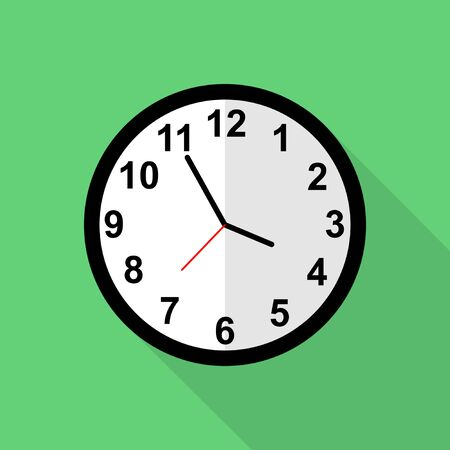 Classic clock icon, Five minutes to four o'clock. Иллюстрация