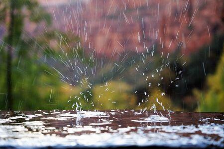 water drops on the floor