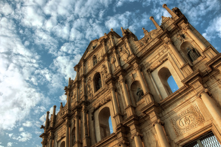 macau: Ruins of Sao Paolo Macau Stock Photo