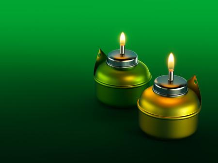 muslim celebration: Ramadan Oil Lamp Stock Photo