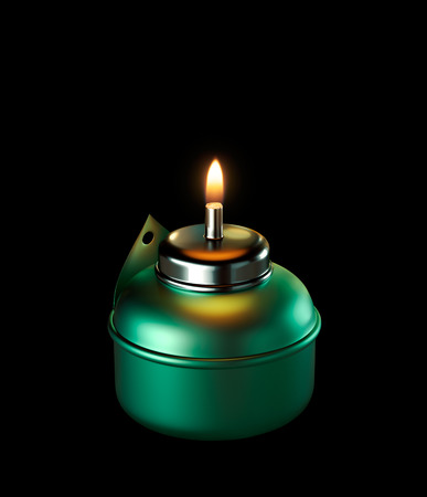 oil lamp: Ramadan Oil Lamp isolated Stock Photo