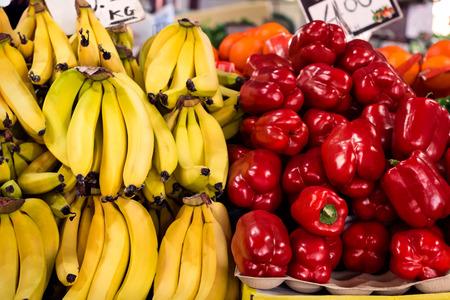 stall: Market fruit stall Stock Photo