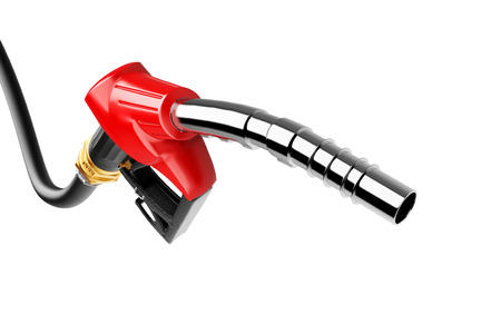 gas pump: Gasoline pump isolated on a white background Stock Photo
