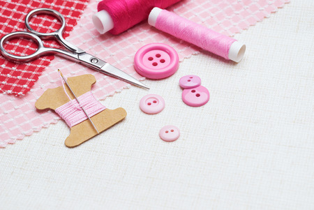 Needle and thread with other sewing tools and accessories