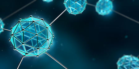 Nanotechnology Atom and Molecule - Abstract background Banque d'images