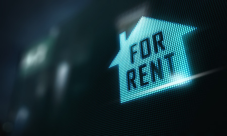 flat panel display: LED Display - House for rent signage