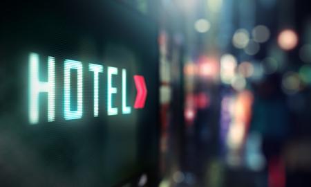 city hotel: LED Display - Hotel signage