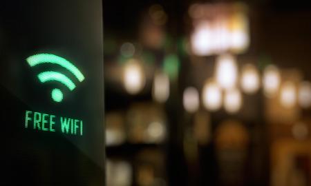 LED Display - Gratis wifi in reliëf