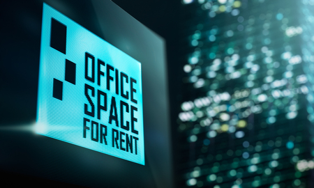 flat panel display: LED Display - Office space for rent signage