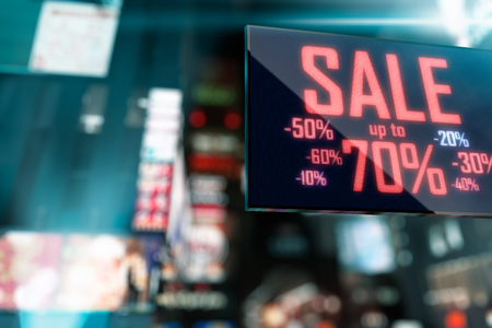 the place is outdoor: LED Display - Shopping Sale signage
