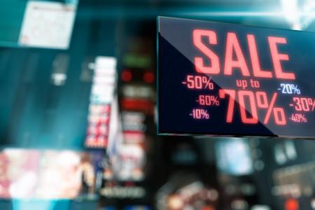 LED Display - Shopping Sale signage Imagens - 52845338