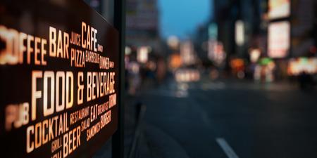 LED ディスプレイ - 食品・飲料の看板 写真素材
