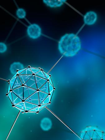 나노 기술 원자 및 분자 - 추상적 인 배경 스톡 콘텐츠