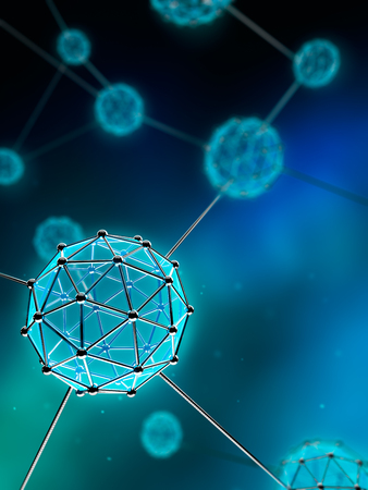 Nanotechnology Atom and Molecule - Abstract background Stock Photo