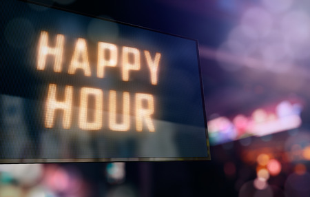 beverage display: LED Display - Happy Hour signage