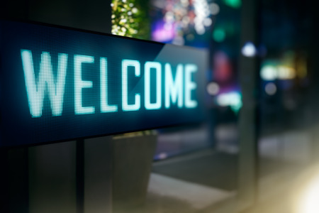 display: LED Display - Welcome signage