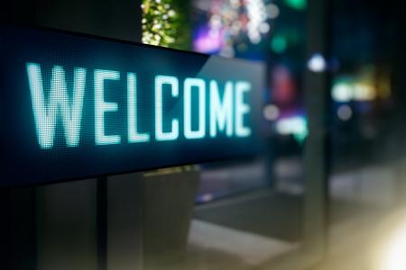 Wyświetlacz LED - Witamy signage Zdjęcie Seryjne