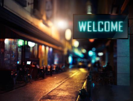 signage: LED Display - Welcome signage