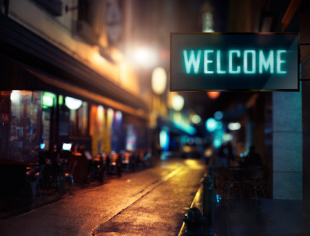 LED Display - Welcome signage Stock Photo - 53022914