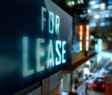 LED Display - For lease signage Stock Photo