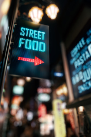LED Display - Street Food signage Imagens