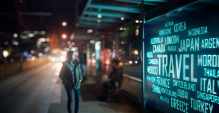 outdoor advertising: LED Display - Travel signage