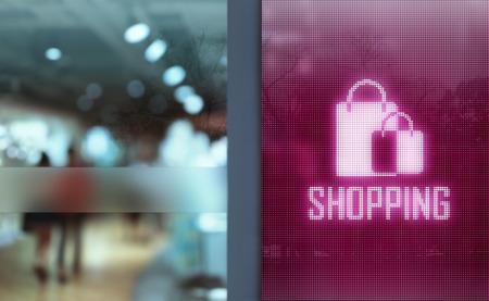 LED Display - Shopping symbol signage