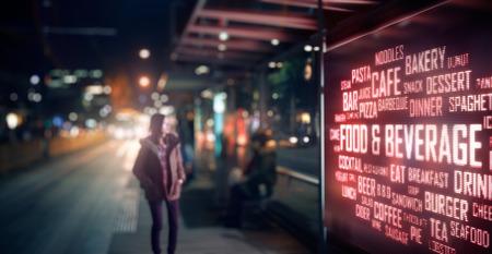digitální: LED displej - Potraviny a nápoje signage Reklamní fotografie