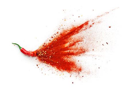 고추, 붉은 고추 조각, 고추 가루 버스트 스톡 콘텐츠