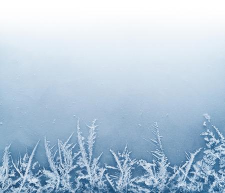 얼음 - 크리스마스 배경에서 프 로스트 크리스탈 테두리