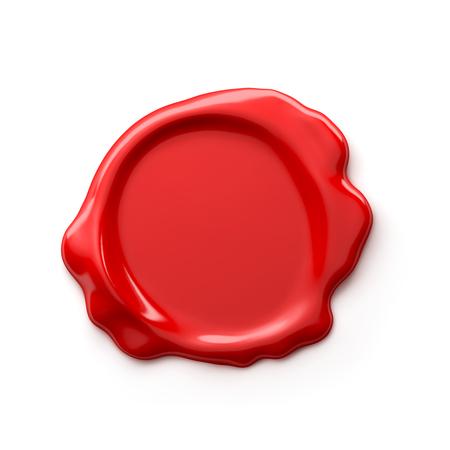 sigillo di cera isolato su sfondo bianco