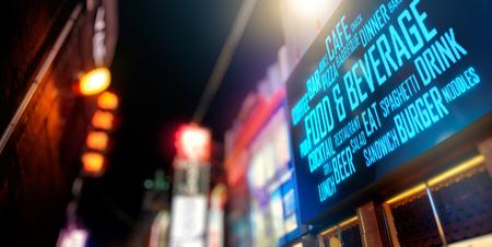 LED Display - Food and beverage signage Banco de Imagens - 86261964