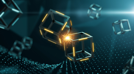 2 blocks clashed creating a spark inside blockchain system