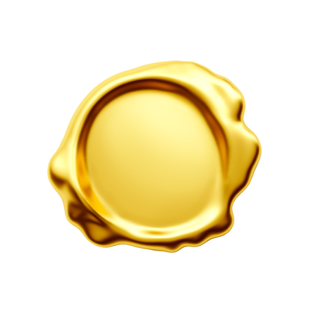 Gold seal with clipping path included