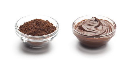 Chocolate powder and melted chocolate Stok Fotoğraf - 122795313