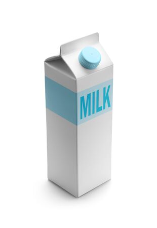 Milk packaging isolated on white background