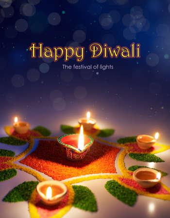 Happy Diwali, The festival of lights Stockfoto