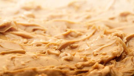 Peanut butter spread background - shallow depth of field Zdjęcie Seryjne