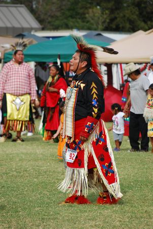 pow wow: Mesa, AZ, USA - October 26, 2014: 31st Annual Roy Track Memorial Pow Wow. A gathering of tribes from all over the US performing dancing and singing on October 26, 2014.